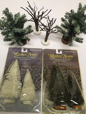 Windham Heights Winter Miniature Trees Sold In Lot For Train Village Settings
