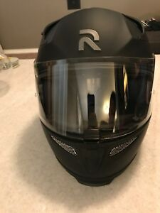 HJC Semi Flat Black motorcycle helmet.