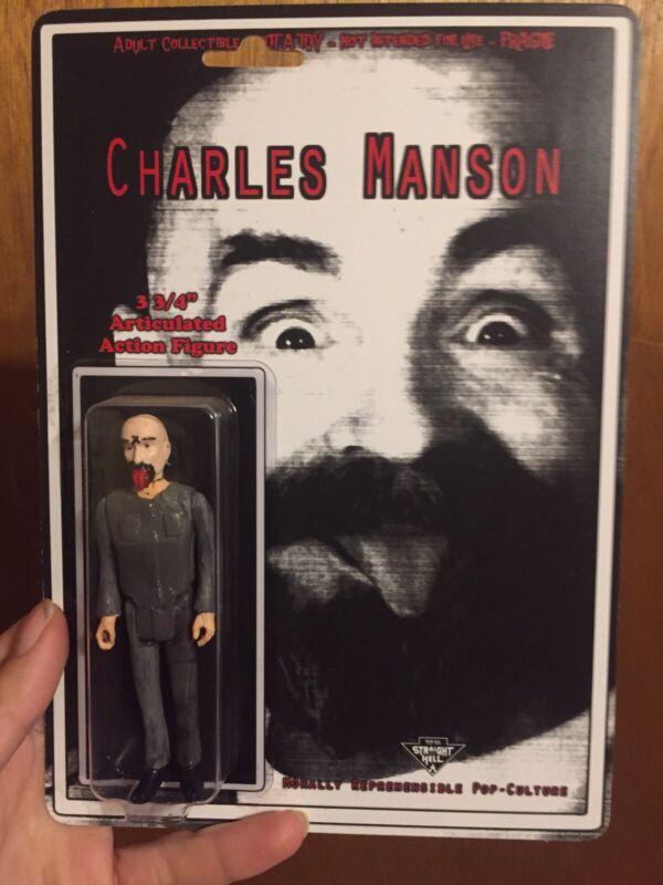 Charles Manson 3.75 Handmade Custom Figure True Crime