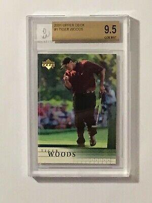 2001 Upper Deck Tiger Woods Rookie Card BGS 9.5 Gem Mint #1