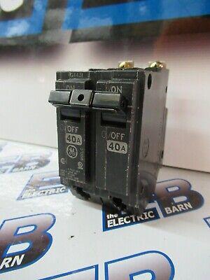 Ge Thqb2140 40 Amp 2 Pole 240 Volt Circuit Breaker- New