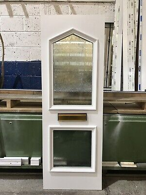 Second Hand UPVC Door Panel, 620mm Wide By 1780mm Height, 28mm Thick, (P682)
