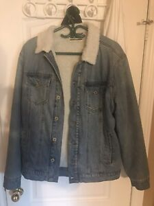 Men's Dravus denim sherpa jacket size large