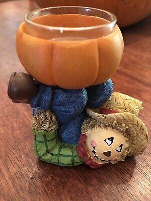 Yankee Candle Scarecrow Pumpkin Fall Decor Harvest Decor Votive Tea Light