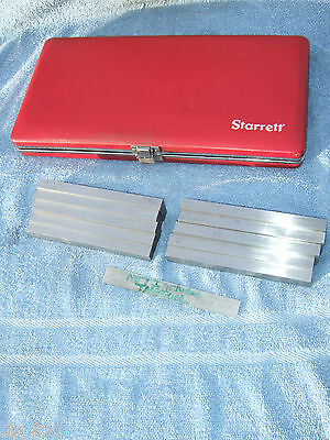 Starrett 12 Inch Thick 384 Parallel Set Machinist Jig Bore Mill Grind Inspect