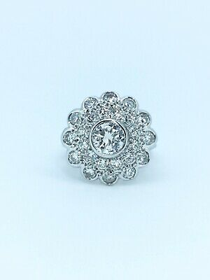 18ct Gold & Diamond (1.85 Carat) Cluster Ring