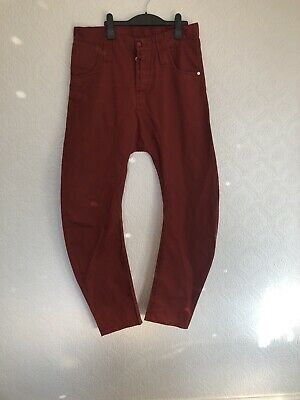 Men's Humör Tomato Red Chino Jeans 32W 32L