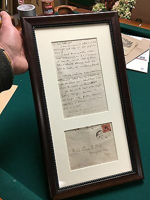 HISTORICALLY SIGNIFICANT  1902 SIGNED  ZANE GREY LOVE LETTER ETHNIC BOOKS