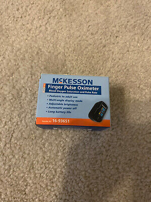 Fingertip Pulse Oximeter Pediatric To Adult Mckesson 16-93651 New Free Shipping