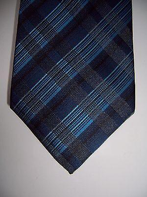 NWT Alfani men's blue aqua black plaid Philly Pack neck tie necktie w/ tie - Phillies Tie
