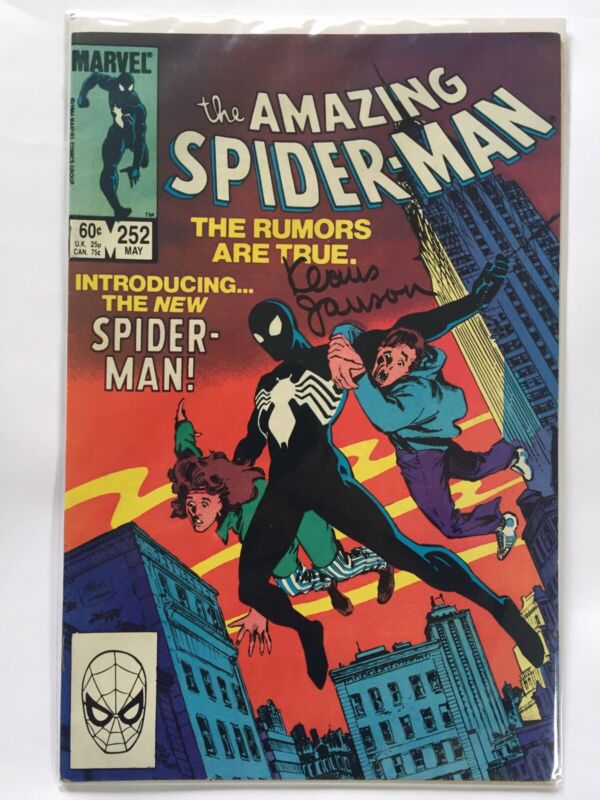 Amazing Spider-Man # 252 First appearance of black suit Signed by Klaus Janson