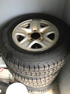 Firestone Winterforce LT 275/65R18 on Toyota winter rims