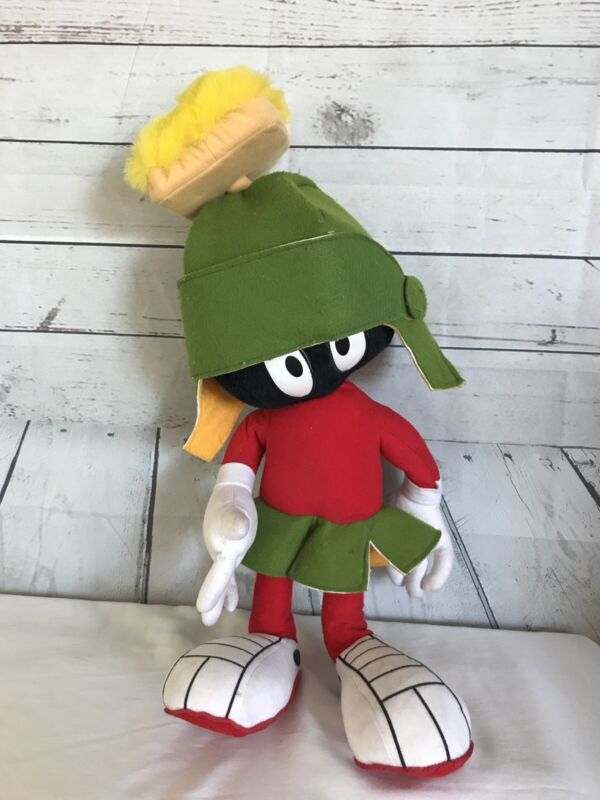 """Vintage 1997 Ace Novelty Co. MARVIN THE MARTIAN 20"""" Stuffed Plush Looney Tunes"""