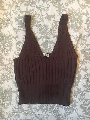 ZARA Knit Brown Top S
