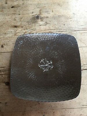 CLASSIC LAKES  'BORROWDALE' HAND HAMMERED FOOTED SQUARE BOWL 10