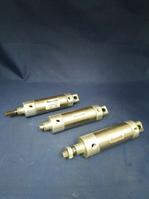 Lot of 3 Aventics Rexroth Pneumatic Cylinders