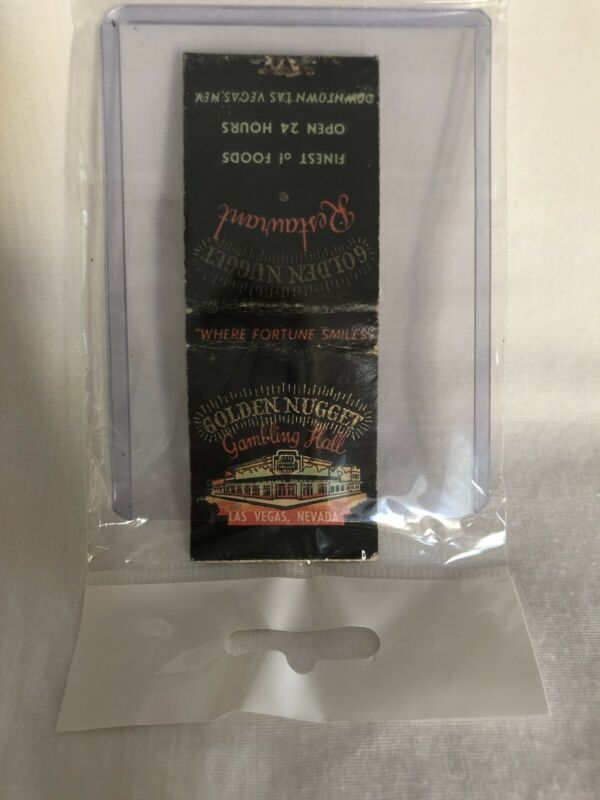 Vintage Las Vegas Matchbook Golden Nugget Unstruck
