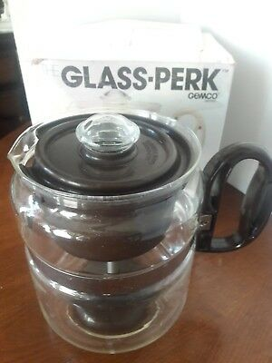 """Vintage """"The Glass-Perk"""" By Gemco (1982) Stovetop Percolator"""