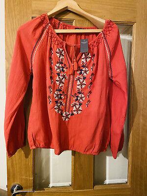 BNWT Abercrombie&Fitch Size M Bardot Cotton Top