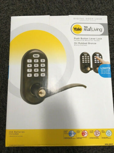 S3004015 YRL210-ZW-0BP  Yale  Oil Rubbed Bronze Zwave Push Button Lever Lock