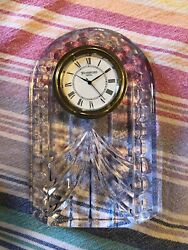 Waterford Crystal Overture Pattern Small Mantel Clock Waterford Ireland