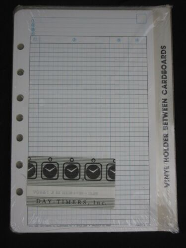Day-Timer Desk Planner Refill Sheets DESIGN-A-FORM 4 Column NOS 90661 Sealed