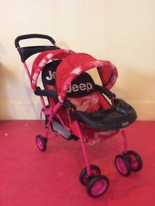 Doll Stroller - 2 Seat Collapsible
