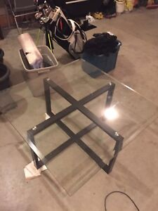 Glass table and side table