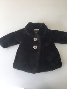 Faux fur girls 6-12 months winter coat