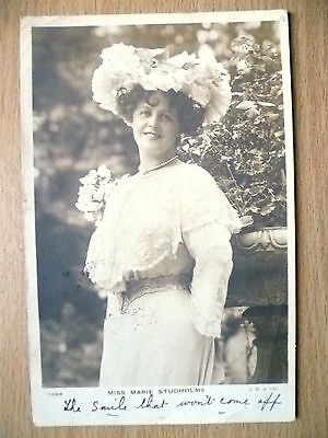 1905 Used Postcards- Actresses MISS MARIE STUDHOLME, No.1204 + Stamp