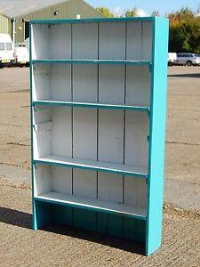 Antique rustic oak shelf shelving unit bookcase dresser top shabby chic painted