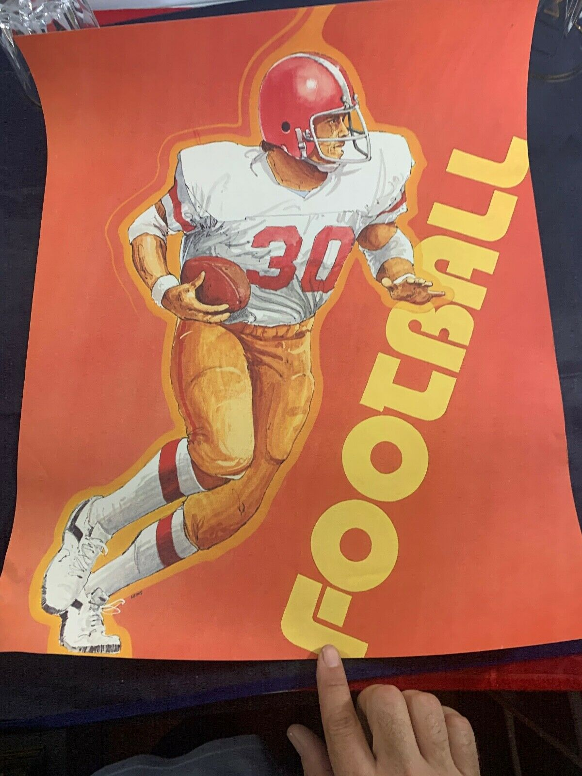 1970 S VINTAGE EDUCATIONAL POSTER PAIR 20 X 16 BASKETBALL FOOTBALL - $24.99