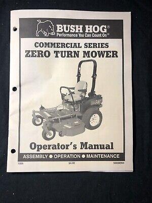 Bush Hog Commercial Series Zero Turn Mower Operators Manual 570571