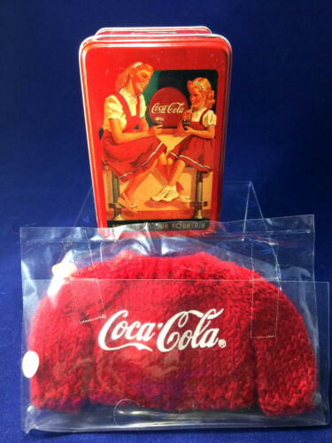 "Madame Alexander Coca-Cola Tin Box and knitted sweater for 10-12"" dolls Lissy"