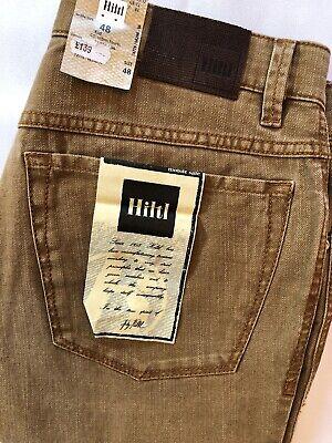 "Hiltl  33 Waist  32"" Leg (48 Eur) Camel Denim Regular Fit Jeans  RRP £139"