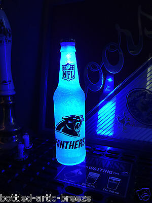 Nfl Pub Sign - NFL Carolina Panthers Football 12 oz Beer Bottle Light LED Neon Bar Pub sign