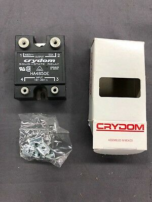 Solid State Relay Ssr 18 - 36vac 50a 50amp 50 Amp Crydom Ha4850e - New New New