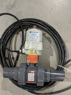 Hayward Epm3-24dp Electric Actuator True Union Ball Valve 2 Viton Nsf 24v