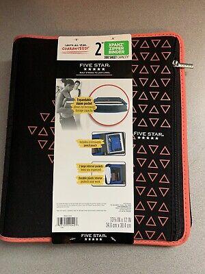 Five Star Zipper Binder 2 Inch 3 Ring Binder Xpanz