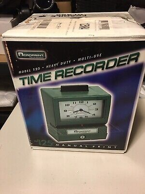 Vintage Acroprint Time Recorder Clock Manual Punch Card 125nr4 With Keys