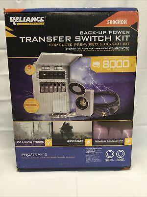 Reliance 300hdk 6-circuit Transfer Switch Kit - New In Box