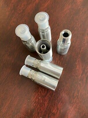 04u-104 Weatherhead Style Crimp Fittings For Hydraulic Hose. 6 Pieces Per Pack