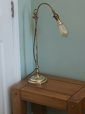 vintage restored brass lamp