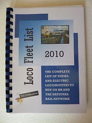 RAILWAY  TRAIN  BOOK  LOCO FLEET LIST  2010   UNUSED