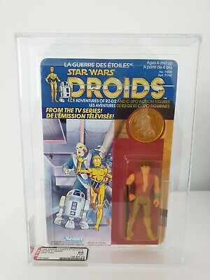 Star Wars Kenner Vintage Droids Jann Tosh unpunched CANADIAN 12 Back AFA 85