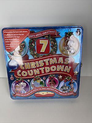 Disney Days Until Christmas Countdown Advent Book w/Locking Tin & Stickers NEW!