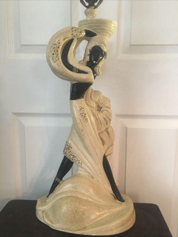 VINTAGE MID CONTINENTAL ART CO.BLACKAMOOR ART DECO LAMP