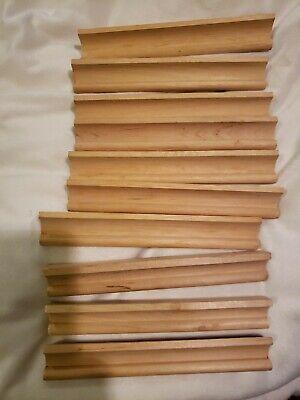 Lot of 10 Scrabble vintage original Wooden Racks Tile Holders Crafts