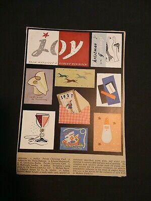 1937 Graphic Design Mock-up Greeting cards, Modern Publicity