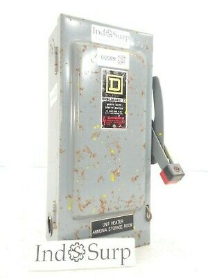 Square D 30 Amps Disconnect 600 Vac 600 Vdc 3 Phase 3 Wire Single Throw